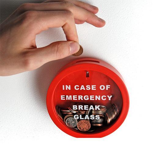 Cool hunts: Emergency Brake Glass Money Box