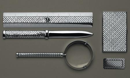 Coolhunts: Bottega Veneta  Sterling Silver Desk Set