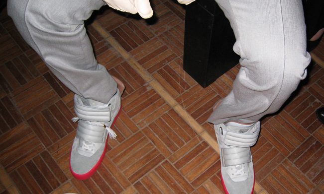 Footwear: Another look at Kanye West X Louis Vuitton High Tops