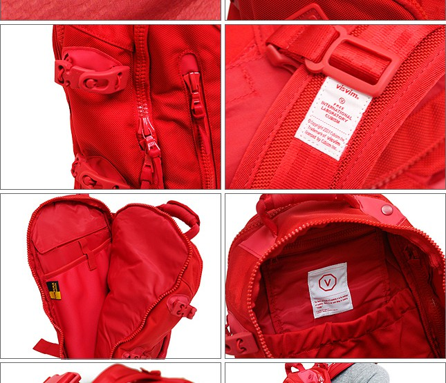 Accessories: Visvim Ballistic Backpack in Red