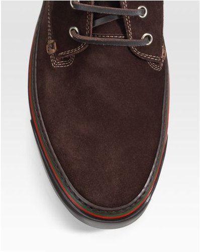Gucci laceup desert boot top