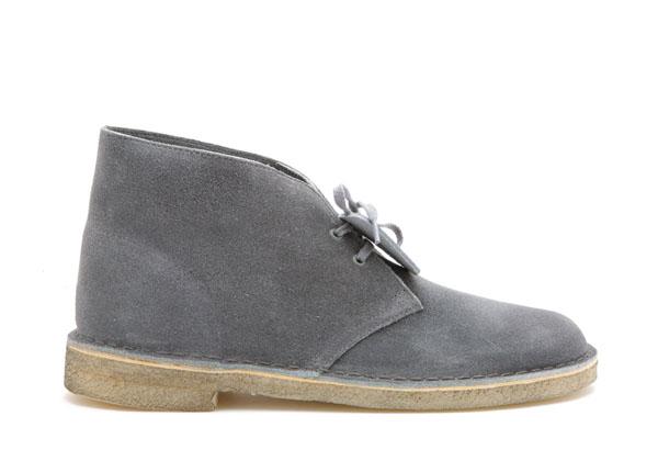 Footwear: Clarks Desert Boot in Grey