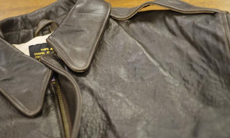 Clothing: Vintage Avirex Type A-2 Lambskin Leather Flight Jacket