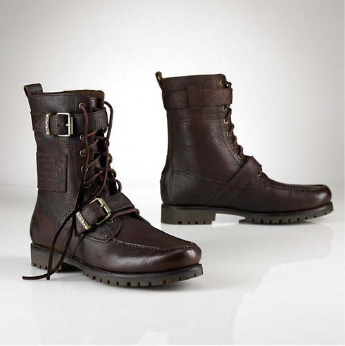Footwear: Polo by Ralph Lauren-Radbourne Tumbled Leather Boot