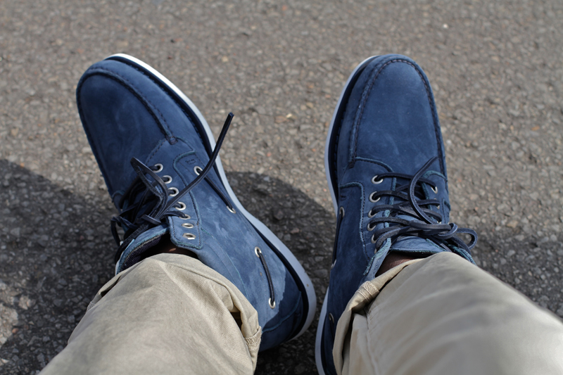 Footwear- Timberland Boat Shoes in Navy