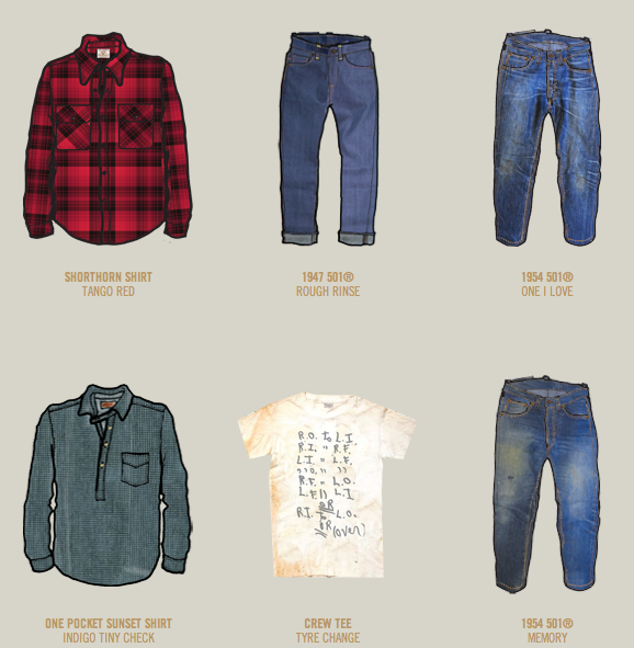 News: Levi's Vintage Clothing Website | Marcus Troy