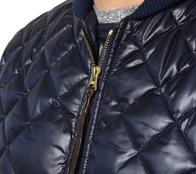 Clothing: NEXUSVII NEX-WCS LV-5 DIA-QUILT ZIP JACKET IN NAVY