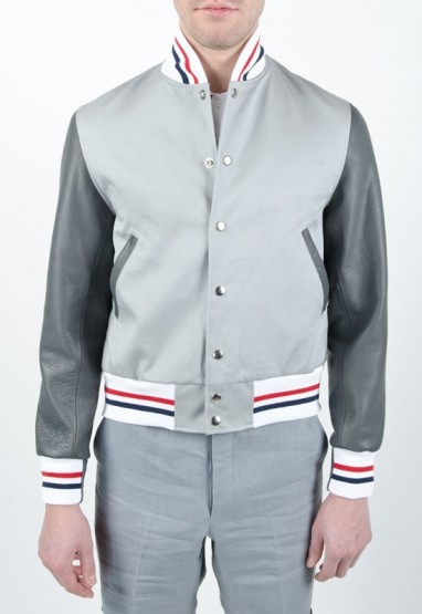 Clothing: Thom Browne Summer Letterman Jacket