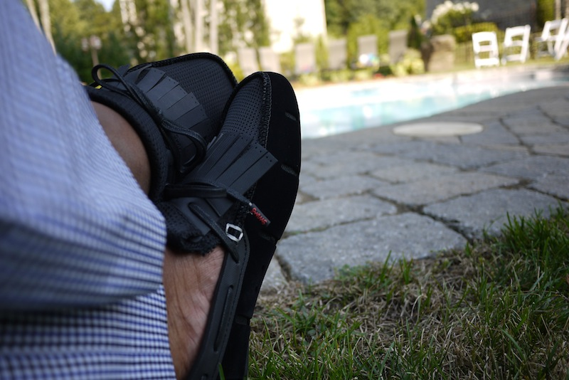 Footwear: SWIMS Wave Front Loafers (Black & Velvet