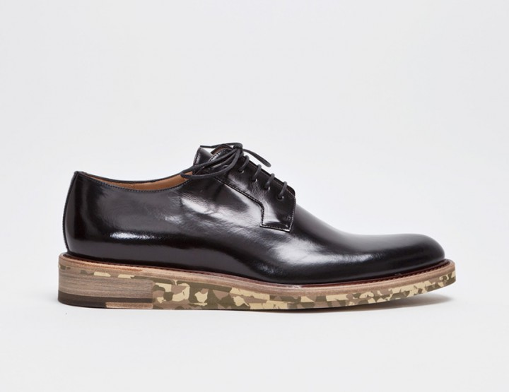 Footwear: Dries Van Noten Derby Black/Camouflage