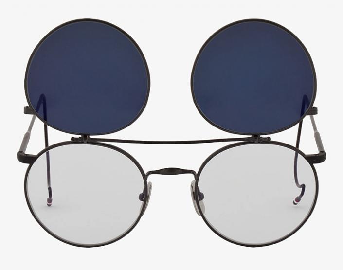 Accessories: Thom Browne Round Flip Aviators