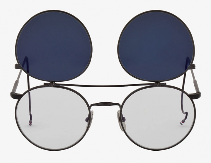 Accessories: Thom Browne Round Flip Aviators