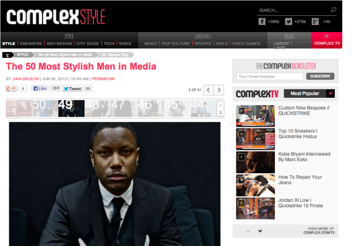 Press: The 50 Most Stylish Men in Media