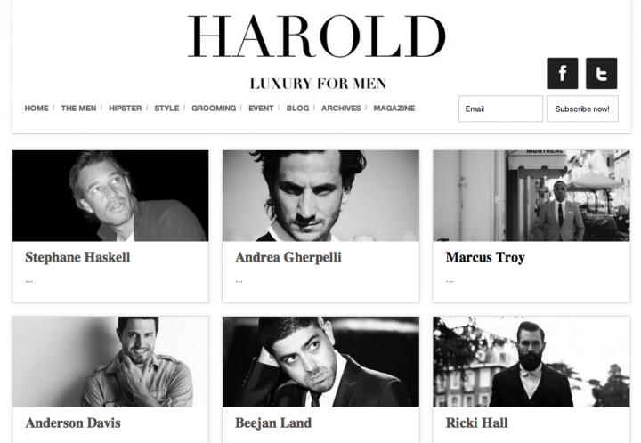 Press: Harold Luxury For Men
