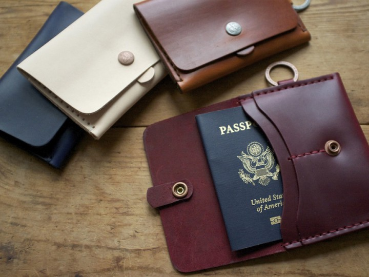 Accessories: Corter Leather & Cloth Travel Wallet @corter