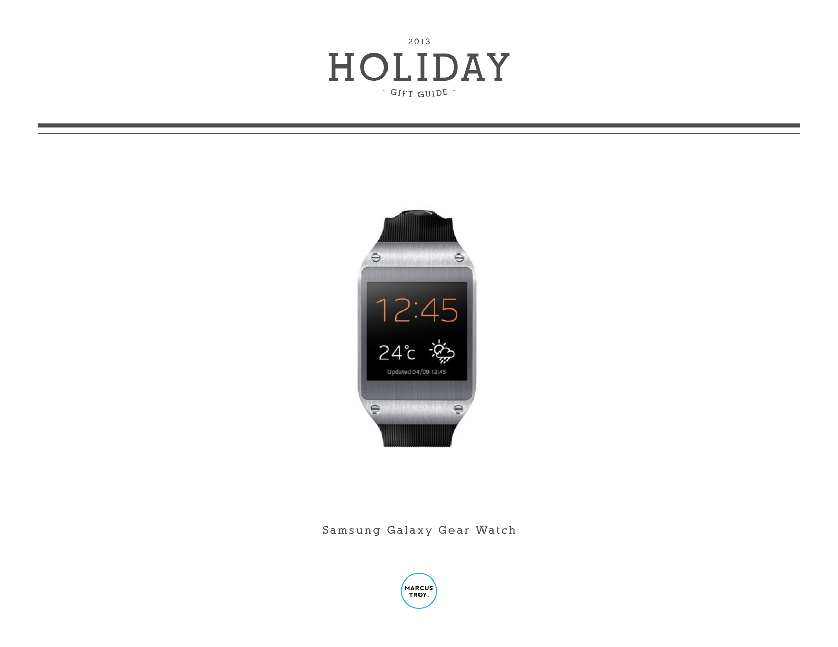 Gadgets: Holiday 2013 Tech Gift Guide Marcus Troy | Marcus Troy