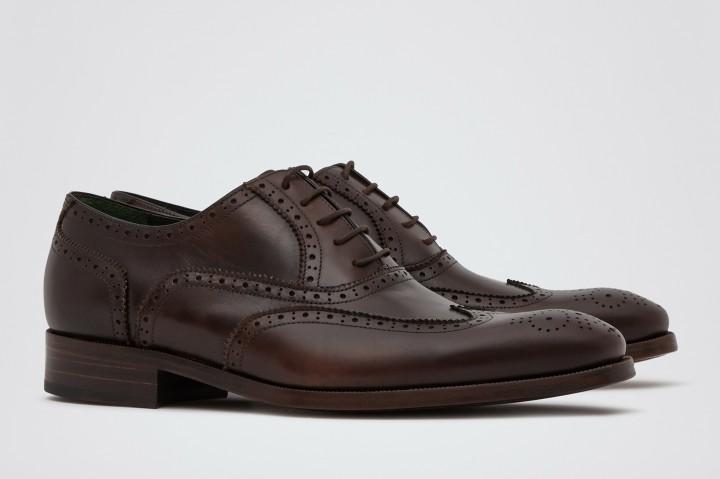Footwear: Reiss Rossmore Brown Hand Finished Brogues @REISS