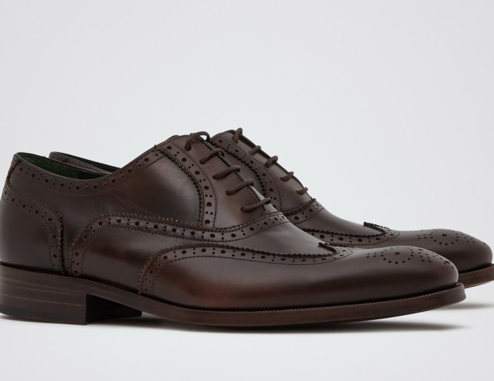 Footwear: Reiss Rossmore Brown Hand Finished Brogues @REISS