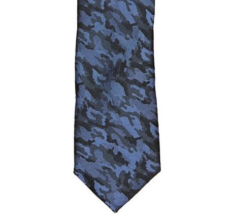 Accessories: Penguin Navy Camo Tie @OriginalPenguin