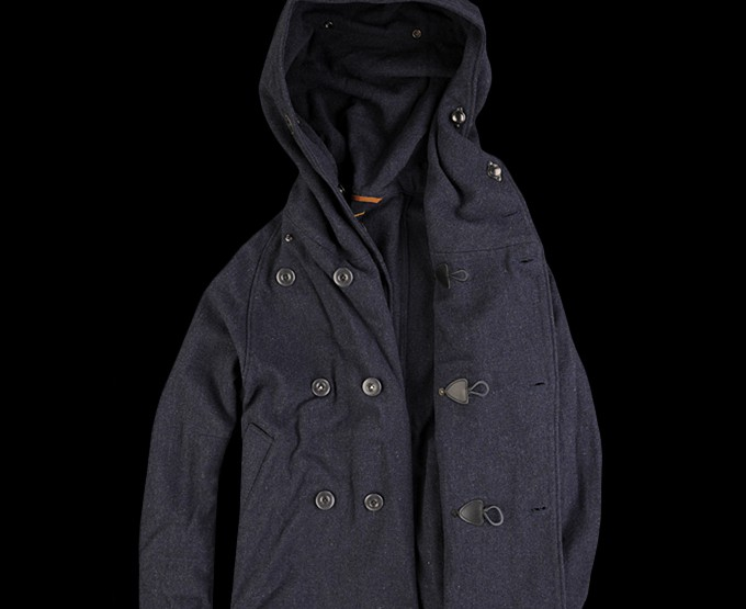 Clothing: Kapital 40S Wool Tri Pea Coat in Navy @_UNIONMADE_