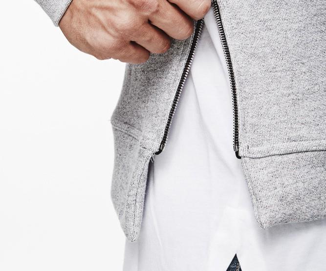 Clothing: John Elliott Grey Villain Sidezip Hoodie @johnelliott_