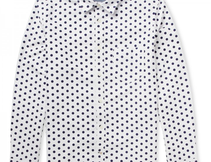 Clothing: NN.07 Clay Polka Dot Shirt @NoNationality07