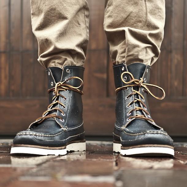 Oak Street Bootmakers Navy Hunt Boot