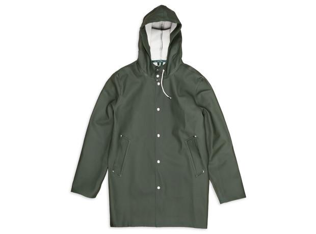 Clothing: Stutterheim Olive Stockholm Raincoat (@A_Stutterheim)