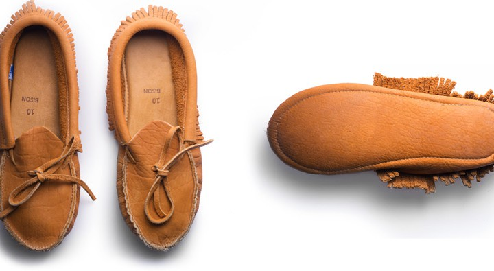 American Bison Leather Moccasins @KaufmannMerc