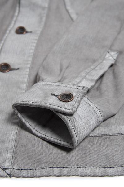 Nudie Jeans Julius White On Grey Jacket