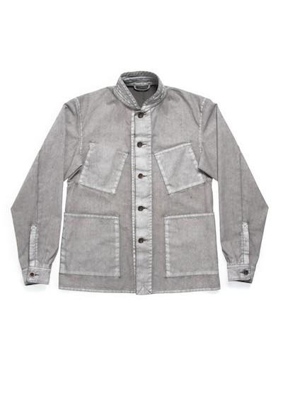 Nudie Jeans Julius White On Grey Jacket @nudiejeans