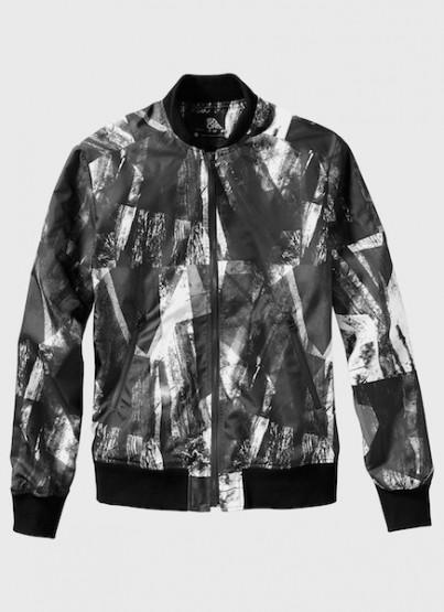 ISAORA Digitally Printed Bomber Jacket @isaora