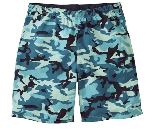 L.L. Bean Turquoise Sea Camo Supplex Sport Shorts @LLBean