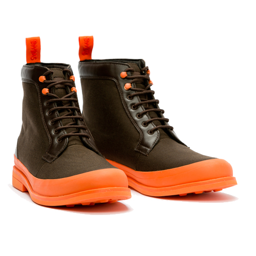SWIMS Harry Boot Brown & Orange @swimsofficial
