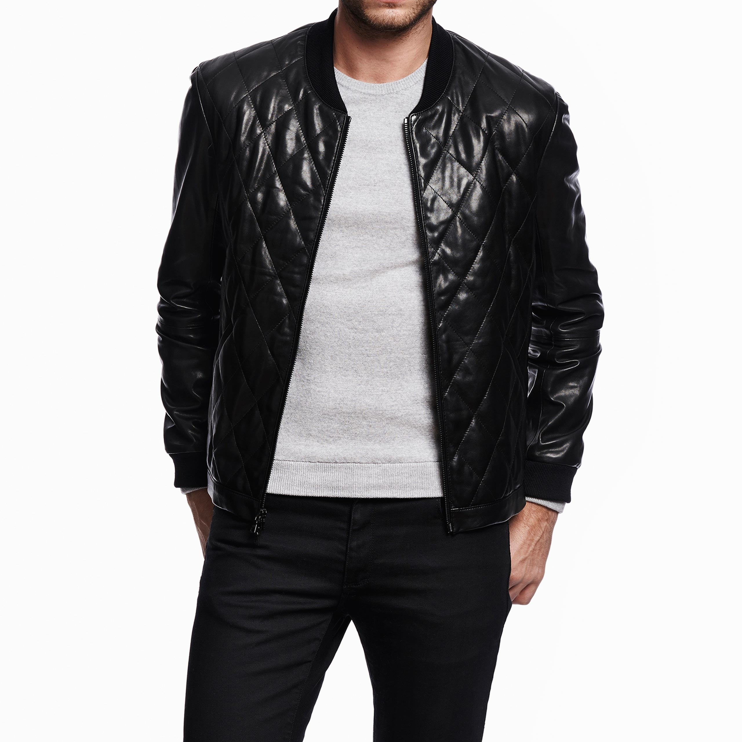 Jardine Quilted Leather Bomber @jardinedesign | Marcus Troy