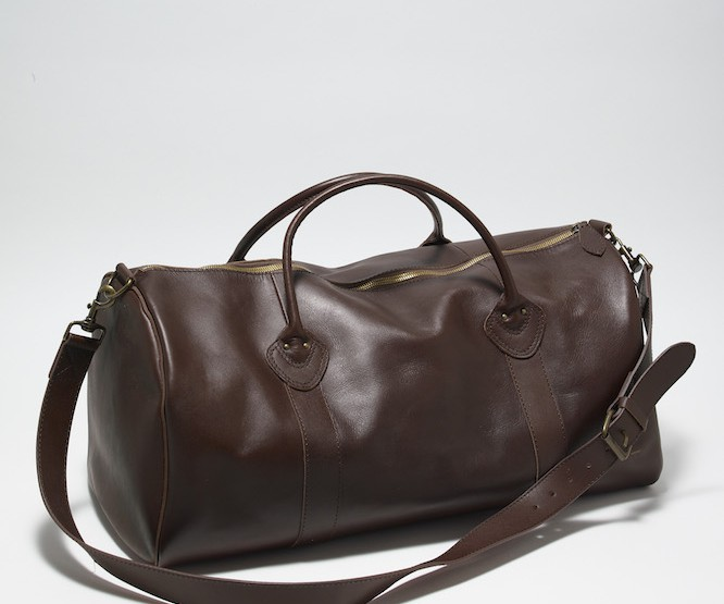 L.L Bean Signature Leather Duffle Bag #wearlifewell @LLBean