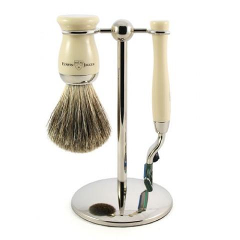Grooming: Edwin Jagger 3pc Ivory & Nickel Set @projectshow #projectready