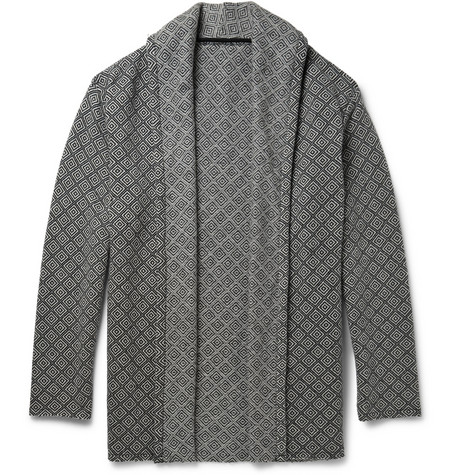 The Elder Statesman Geometric Woven Cardigan @MRPORTERLIVE