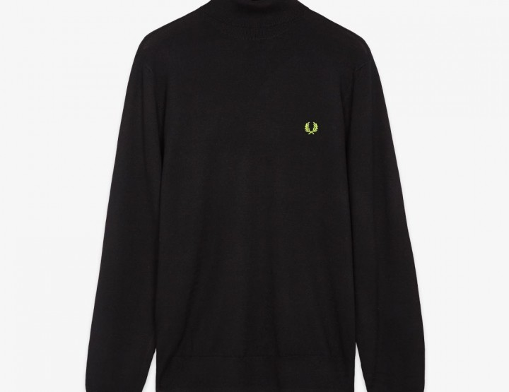 Fred Perry Soho Neon Roll Neck And Crew Sweater @fredperry