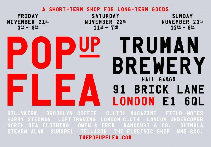 Retail: The Pop Up Flea Returns to London   November 21st-23rd @pop_up_flea