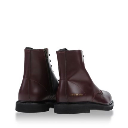 Common Projects Burgundy Ankle Boot