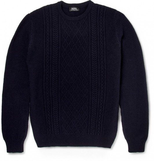 A.P.C Cable-Knit Wool Sweater @APC_USA