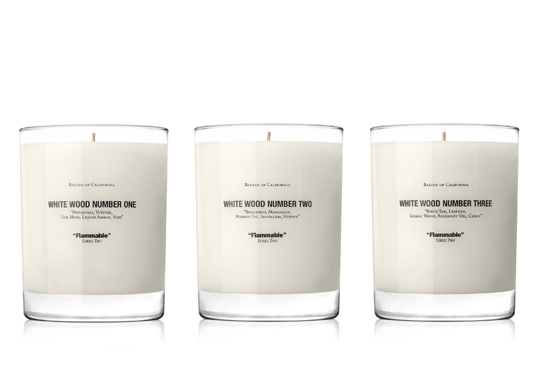 Home: Baxter of California White Wood Scented Candle Series @BaxterOfCA