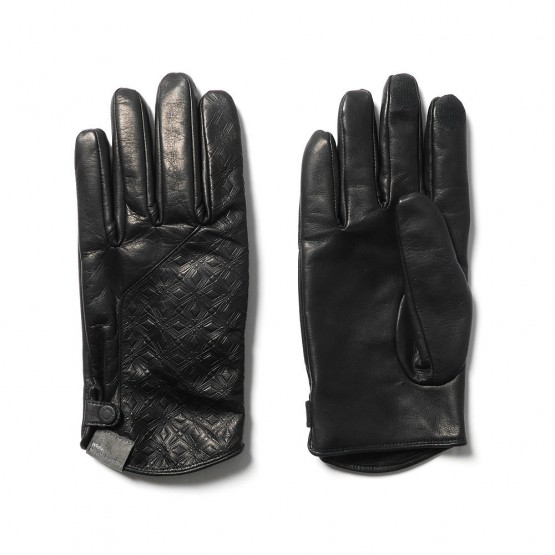 White Mountaineering Embossed Leather Gloves @WMountaineering