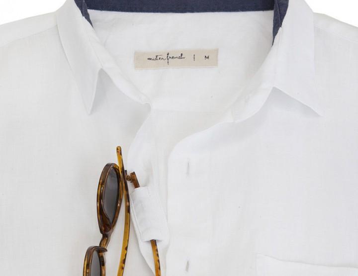 Mister French White Linen Shirt