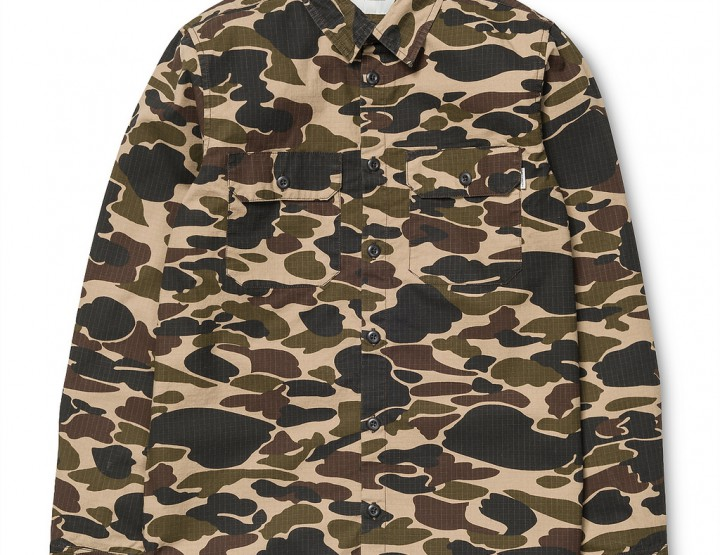 Clothing: Carhartt WIP L/S Camo Isle Trip Shirt Jacket @CarharttWIP