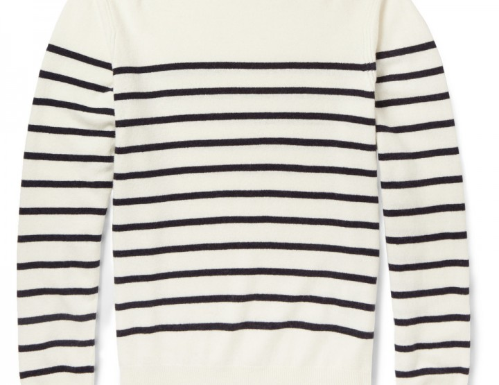 Clothing: A.P.C Striped Wool And Cashmere Sweater @MRPORTERLIVE