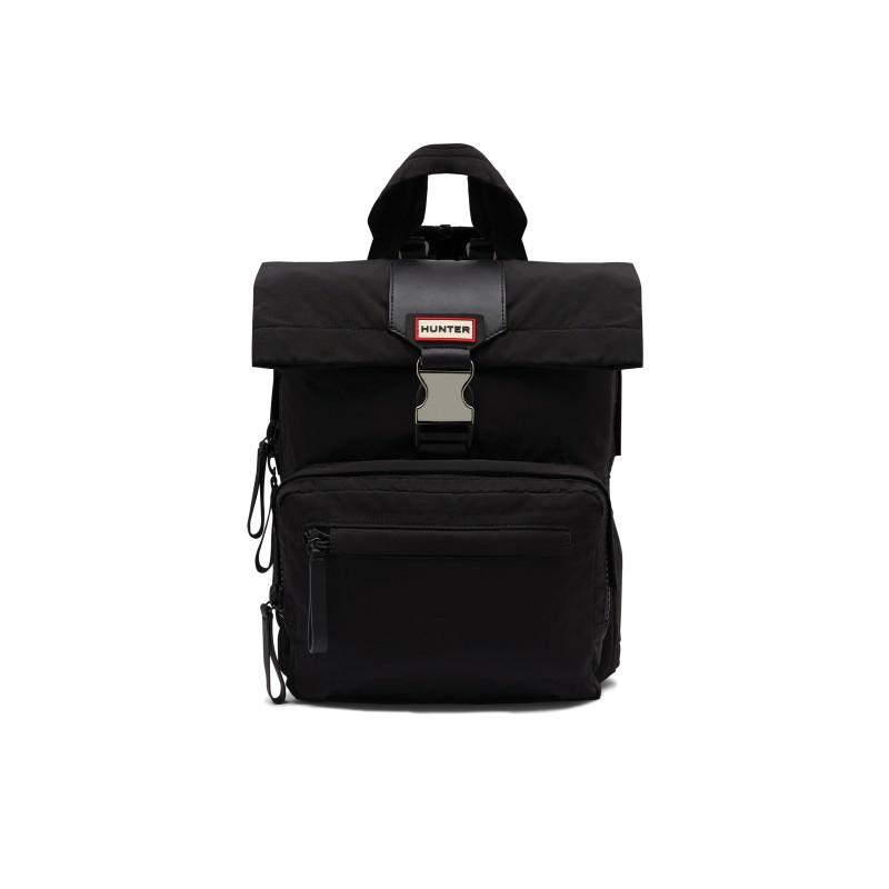 Original Nylon Foldover Backpack in Black Black