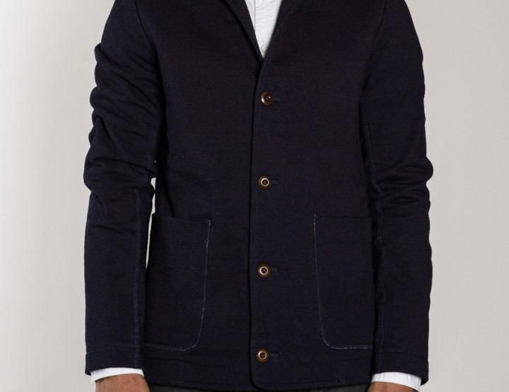 Clothing: wings+horns indigo terry blazer @wingsandhorns