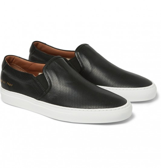 Footwear: Common Projects Leather Slip-On Sneakers